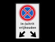 Verkeersbord RVV E2 + pictogram - Verbod stil te staan