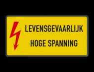 Waarschuwingsbord Aluminium - Gevaar elektriciteit