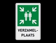 Verzamelplaats BHV bord met tekst | E007 - BT33