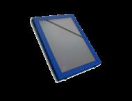 Vitrinebord aluminium met voorruit
