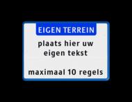 Tekstbord landscape 3:2 met banner