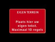 Tekstbord landscape 3:2 met banner - rood/wit