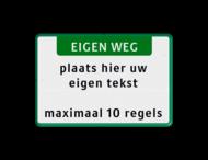 Tekstbord landscape 3:2 met banner - groen