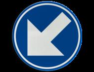 Verkeersbord België D1fc- Verplicht links aanhouden