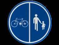 Verkeersbord België D9a - Deel van de weg voorbehouden voor voetgangers en fietsen