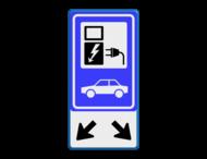 Verkeersbord RVV E08 - oplaadpunt + pijlen - BE04b
