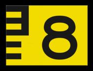 Scheepvaartbord BPR G. 5.1 - 1350x1000mm - Vlak