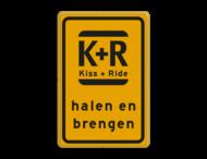 Verkeersbord WIU geel/zwart Kiss & Ride