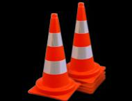 Afzetkegel 750mm - set van 5 stuks - oranje/wit reflecterend