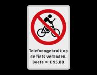 Verkeersbord - Telefoongebruik op fiets verboden