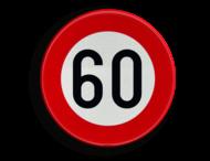 Verkeersbord België C43 - Vanaf het verkeersbord tot het volgend kruispunt, verbod te rijden met een grotere snelheid dan deze die is aangeduid
