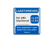 Laadtarievenbord - vol reflecterend - Greenflux