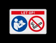Veiligheidsbord | 2 symbolen + banner