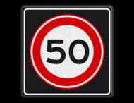 Verkeersbord RVV A01 50s - Maximum snelheid 50 km/h