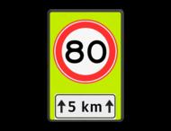 Verkeersbord RVV A01-xxf - OB401-xxx