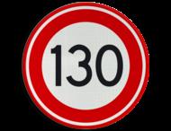 Verkeersbord RVV A01-130 - Maximum snelheid 130 km/h