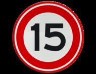 Verkeersbord RVV A01-15 - Maximum snelheid 15 km/h