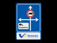 Routebord 2:3 - Huisstijl met logo - Bewegwijzering ANWB stijl