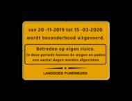 Informatiebord geel/zwart + kader en logo (1 kleur)