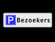 Parkeerplaatsbord Parkeren Bezoekers