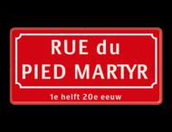 Straatnaambord Frankrijk 600x300