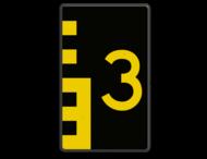 Scheepvaartbord BPR G. 5.1 - 600x1000mm - Hoogteschaal geel/zwart