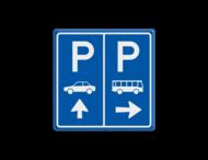 Bewegwijzering - Routebord 2 richtingen - vierkant