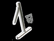 Verkeersbordstandaard EASY - Aluminium ø48x1200mm + beugelset