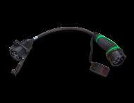 Adapter voor laadpaal type 1 naar type 2 voertuig (max. 1x16a/230v)