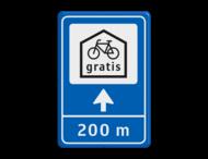 Verkeersbord 40x60 Route - fietsenstalling
