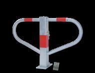 Antiparkeerbeugel 500x800x70mm verzinkt, NEERKLAPBAAR - bodemmontage