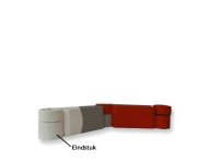 Geleider eindstuk 100x160mm gerecycled kunststof