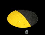 Snelheidsremmer Ø420x50mm geel/zwart