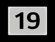 Parkeerplaatsnummer Alu-VLAK 270x200x2,3mm wit/zwart VLAK