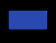 Basisbord omgezette rand - type 2:1 - rondom gepoedercoat
