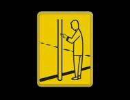 Verkeersbord Model VR03 geel/zwart - 200x270mm - Voetgangers