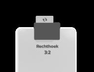 Basisbord omgezette rand - type 3:2 - rechthoek