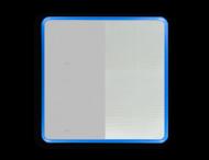 Basisbord omgezette rand - type 1:1 - vierkant reflecterend