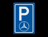 Parkeerbord type E08 automerk - Logo Mercedes