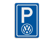 Parkeerbord type E08 automerk - logo VW