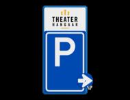 Bewegwijzering parkeerplaats + logo | BW201 + los pijlbord