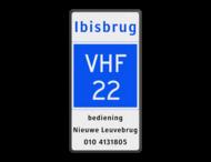 Scheepvaartbord BPR E.21 + tekst