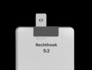 Basisbord omgezette rand - type 5:2 - rechthoek