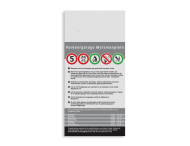 Informatiebord DIBOND 1:2 / 3mm - full-colour
