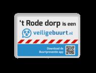 Veiligebuurt.nl - met uw wijknaam - informatiebord