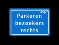 Tekstbord blauw/wit 3 regelig + logo DHV