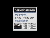 Tekstbord wit/zwart/ huisstijl SNL-LWM
