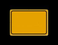 Tekstbord WIU geel met kader / zonder tekst