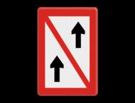 Scheepvaartbord BPR A. 2 - Voorbijlopen verboden