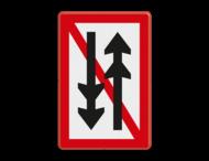 Scheepvaartbord BPR A. 4.1 - Ontmoeten en voorbijlopen samenstellen onderling verboden